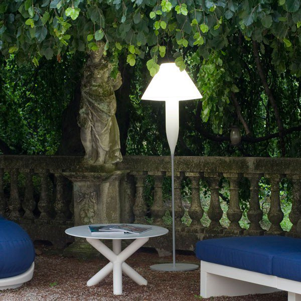 illustration lampadaire terrasse