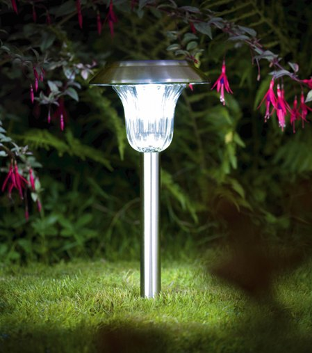 photo lampe jardin led