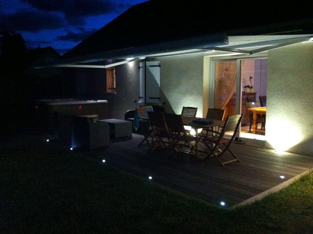 photo éclairage terrasse led
