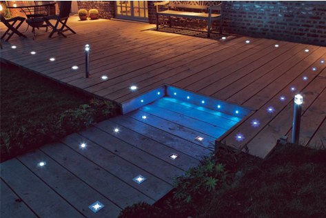 Clairage terrasse led eclairage ext rieur for Led solaire terrasse