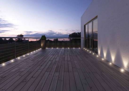 exemple éclairage terrasse led
