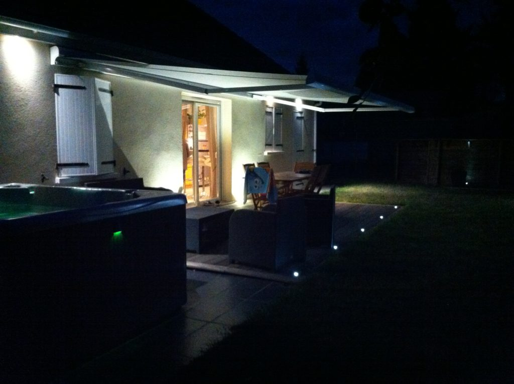 visualiser éclairage terrasse led