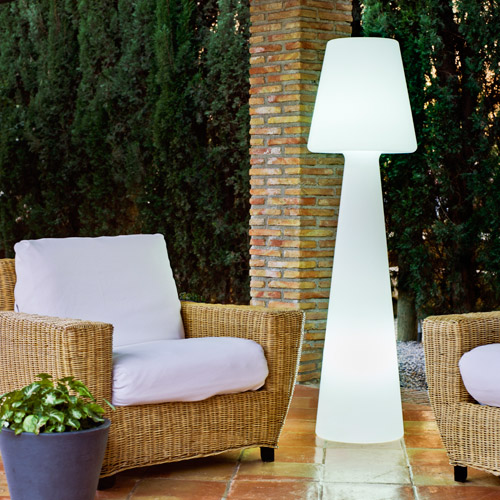 photo luminaire terrasse design